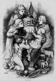 SANTA, THOMAS NAST 1879 SANTA CLAUS, MERRY CHRISTMAS