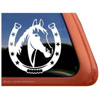 Turn & Burn Barrel Racing Horse Trailer Vinyl Window Decal