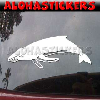 HUMPBACK WHALE Vinyl Decal Hawaii Maui Car Sticker OC23