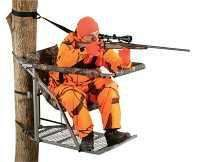 NEW LOCK ON TREE STAND TREESTAND W/RIFLE GUN REST DEER HUNTING BLIND