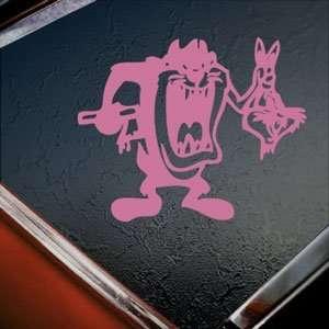 Tazmanian Devil Kill Bugs Bunny Taz Kids Pink Decal Pink