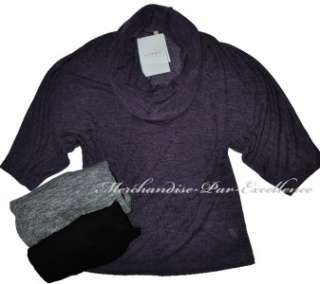 new OLIVIA MOON Angel Wing Shirt Top Sweater Black Gray Purple New