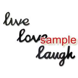 LIVE LOVE LAUGH WRITING WHITE VINYL DECAL STICKER