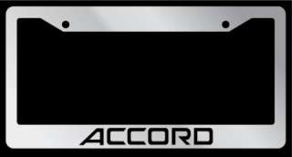 Chrome License Plate Frame Honda Accord Auto Accessory Novelty