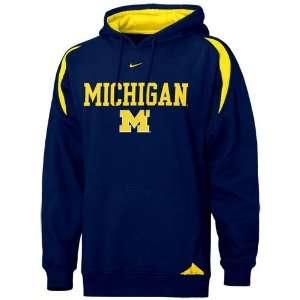Nike Michigan Wolverines Navy Blue Youth Pass Rush Hoody