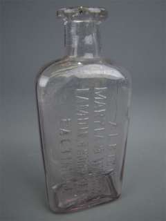 Antique ALBION Maryland Whiskey Glass Bottle Thompson