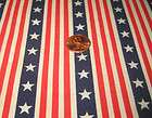 yd   Red White Blue Stars Stripes Print Cotton Fabric ~quilt