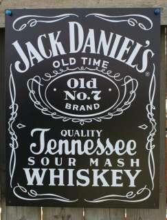 Jack Daniels Black Label Tin Sign Garage Man Cave Bar Beer Alcohol