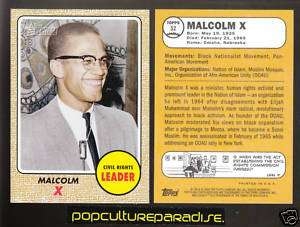 MALCOLM X 2008 Topps American Heritage CARD #52