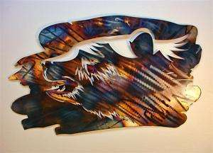 Grizzly Bear Metal Wall Art Wrought Iron Lodge Decor