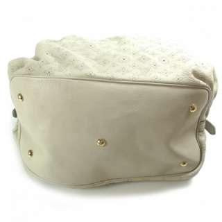 LOUIS VUITTON MAHINA XXL Shoulder Bag Tote Purse Ivory