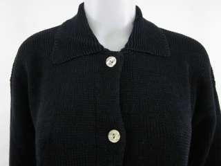 ISDA & CO Black Knit Button Cardigan Sweater Sz M