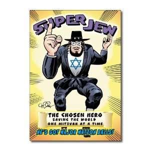 Funny Birthday Cards Super Jew Humor Greeting Daniel
