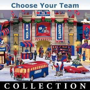 Collectible NFL Football Christmas Village Collection NFL