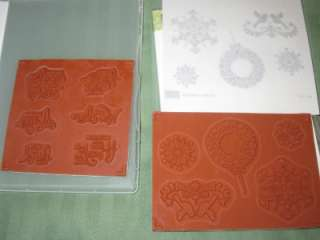 LOT CLEAR MOUNT RUBBER STAMP SETS WHIMSICAL WORDS & NORTHERN HEARTS