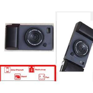 3 in 1 Old Fashion Camera Design Hard Iphone 4 Case,black