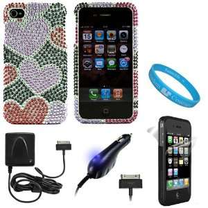 Charger with Blue LED For Apple iPhone 4, 3GS, 3G, iPod Touch, & Nano
