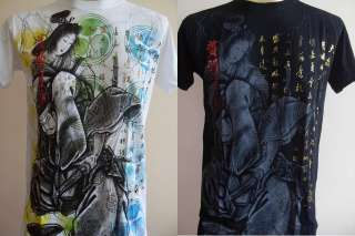 Emperor Eternity Japanese Geisha Men Tattoo T shirt M L