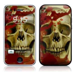Apple iPhone 3G 3GS Skin Cover Case Decal Death Skulls