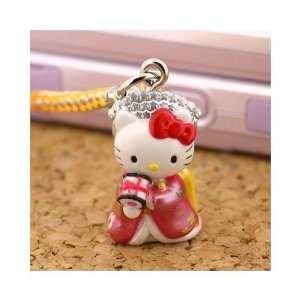Sanrio Hello Kitty Legendary Kabuki Princess Netsuke Cell Phone Strap