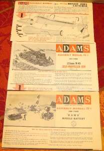 1950s Lot Adams & Revell Model Kit Parts & soldiers Hawk Missle