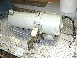 John S Barnes Hydraulic Pump w Motor H2190202 1PH 1/3HP