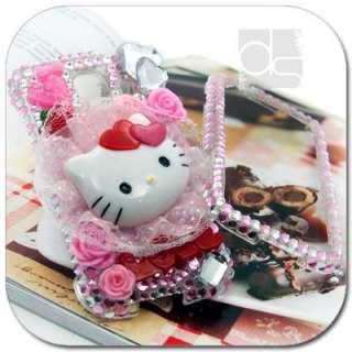 Hello Kitty 3D Bling Crystal Hard Skin Case Cover For LG Optimus S / U