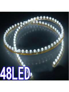2x 48 LED White Flexible Strip Waterproof Car Light Bulb