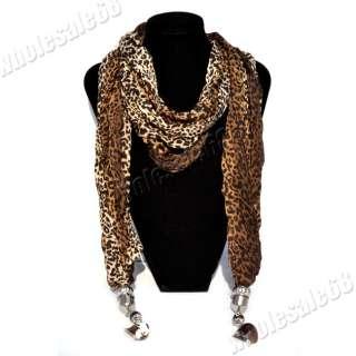 NEW 1pcs fashion Womens/ladys leopard pashmina long Scarf Shawl Wrap