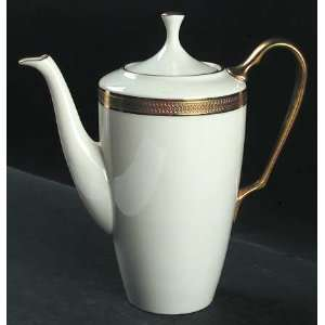 Lenox China Lowell (Gold Backstamp) Coffee Pot & Lid, Fine