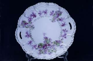 Lehmann & Son German Porcelain Handled Plate 754
