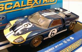 c3097 ford gt40 le mans 1966 andretti bianchi 1 32 scale slot car