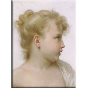 Study  head of a little girl 12x16 Streched Canvas Art by