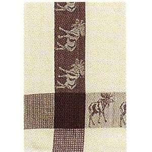 100% Cotton Waffle Weave Brown Moose Dishtowel 18 X 28