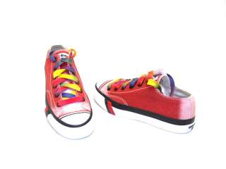 Pro Keds Womens Canvas Fashion Sneaker Shoes Low Top Royal Dark Red