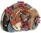 MARY FRANCES Koi Pond Fish Picses Bag Handbag purse Beaded NEW Black