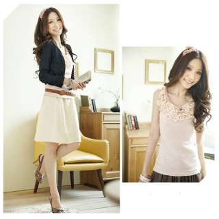 New Fashion Women/lady Lovely Lace Tops/Vests A07