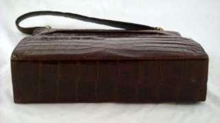 brown leather purse handbag designer label inside is worn and i