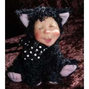 Personality Plush Black Jack Kitty Cat Figurines