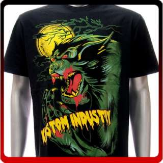 Sz L XL Kustom T shirt Tattoo Wolf Ghost Monster k124b