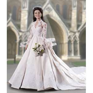 Kate Middleton Royal Wedding Vinyl Portrait Doll Toys