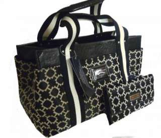 TOMMY HILFIGER Set Black White H Logo Signature Tote Handbag