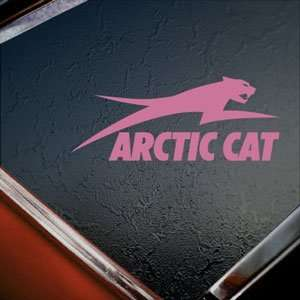 Arctic Cat Pink Decal Snowmobile Car Truck Window Pink