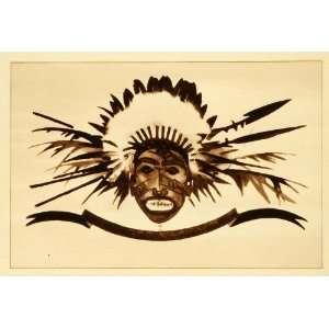 1926 Photogravure Ludwig Hohlwein Art Ethnic Indigenous
