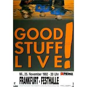 Good Stuff LIVE In 1992   CONCERT POSTER from GERMANY