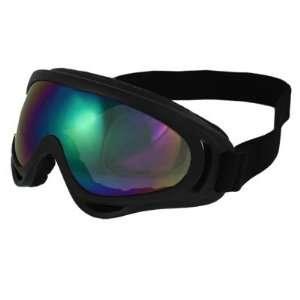 Como Woman Man Black Plastic Frame Colored Uni lens Wind