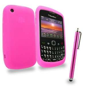 Mobile Palace  Pink silicone case cover pouch with pink