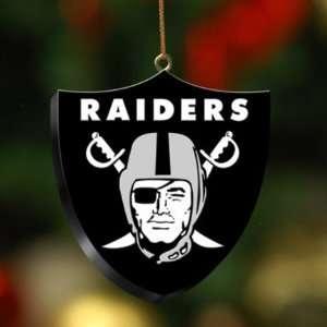 Oakland Raiders Team 3D Logo Ornament NFL Football Fan Shop Sports