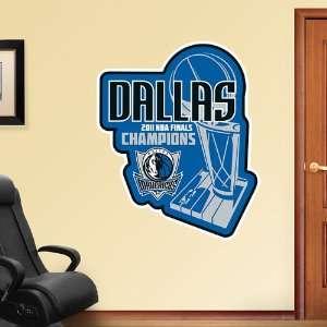 NBA Dallas Mavericks 2011 Champs Logo Vinyl Wall Graphic