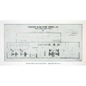 Print Vancouver Island Power Plant House Company Canada Floor Plan Map